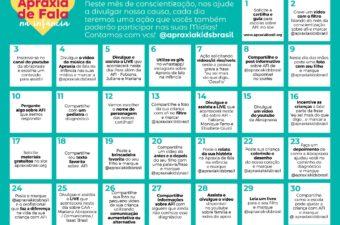 Calendário de Atividades Abrapraxia Maio 2021